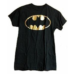 Black Batman T-Shirt Cap Sleeve Size Small/Medium